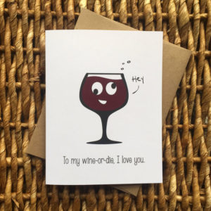 Wine bestie card