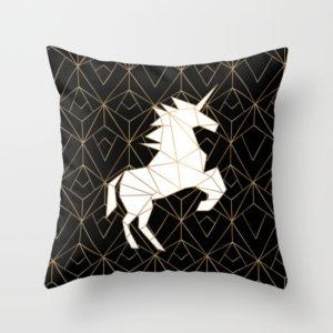 Geometric Unicorn Noir