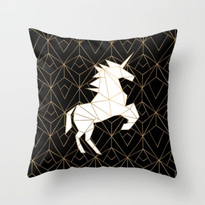 Geometric Unicorn Noir