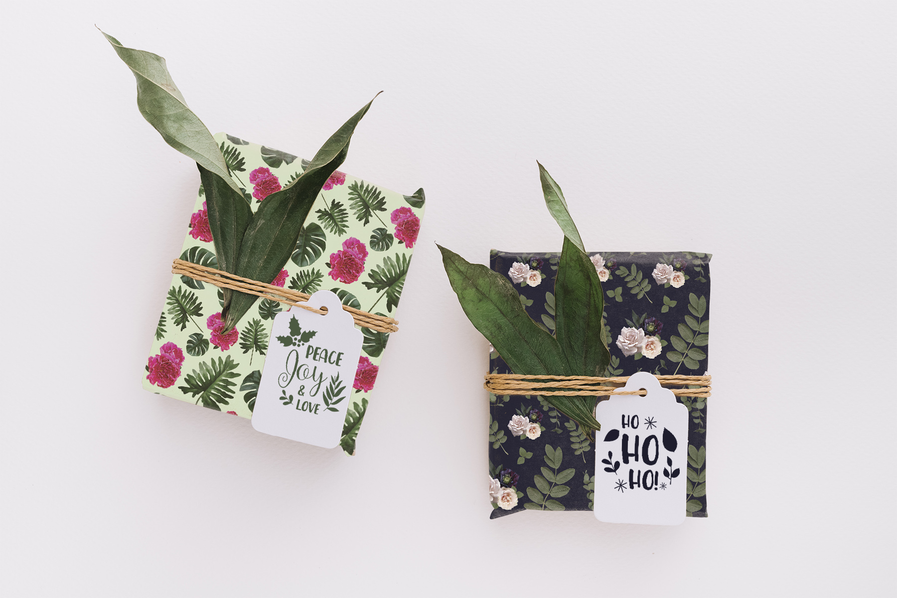 Pressed Florals gift wrapping